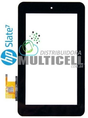 TELA TOUCH SCREEN HP SLATE 7' 2800 2801 PRETO ORIGINAL