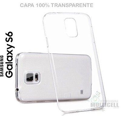 CAPA CASE DE SILICONE 100% TRANSPARENTE SAMSUNG G920 GALAXY S6