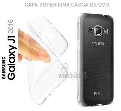 CAPA CASE TPU DE SILICONE 100% TRANSPARENTE SUPER FINA CASCA DE OVO SAMSUNG J120 GALAXY J1 (2016)