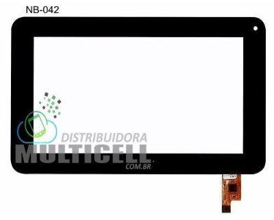 TELA TOUCH SCREEN MULTILASER NB042 NB 042 DIAMOND LITE PRETO ORIGINAL