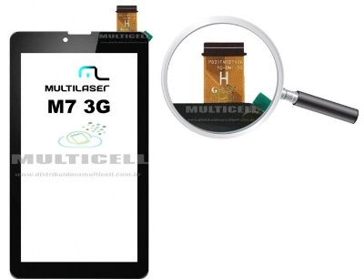 TELA TOUCH SCREEN MULTILASER M7 3G NB 162 NB162 PRETO ORIGINAL