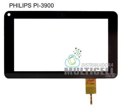 TELA TOUCH SCREEN PHILIPS PI3900 PI 3900 B2X 7' PRETO ORIGINAL