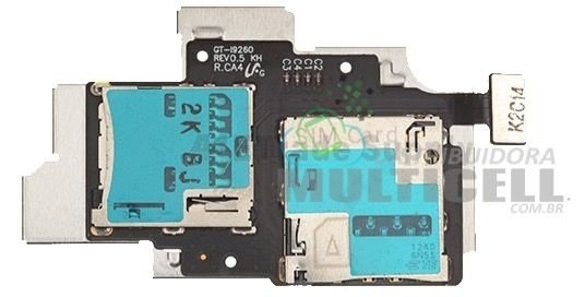 FLEX CONECTOR SLOT DE CHIP MATRIZ SIM CARD SAMSUNG I9260 GALAXY PREMIER ORIGINAL