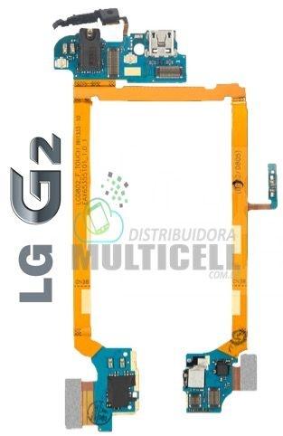 FLEX DOCK CONECTOR DE CARGA MICROFONE E FONE DE OUVIDO D802 D802T D805 LG G2 1ªLINHA