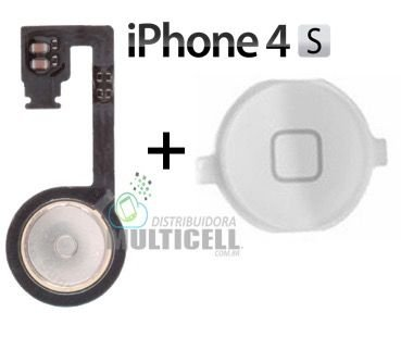 FLEX BOTAO HOME APPLE IPHONE 4S BRANCO ORIGINAL
