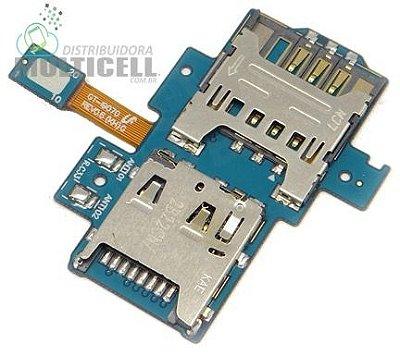 FLEX LEITOR MATRIZ SLOT CONECTOR DE CHIP SIM CARD SAMSUNG i9070 GALAXY S2 LITE ORIGINAL