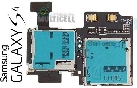 FLEX SLOT MATRIZ CONECTOR DE CHIP SIM CARD SAMSUNG I9500 I9505 I9515 GALAXY S4 ORIGINAL