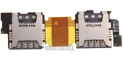 FLEX CONECTOR SLOT DE CHIP MATRIZ SIM CARD SAMSUNG I9600 G900 G9008W GALAXY S5 DUAL ORIGINAL