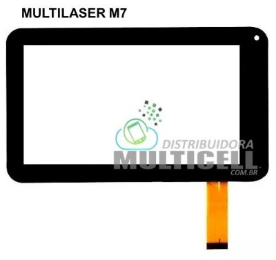 TELA TOUCH SCREEN MULTILASER M7 FLEX LONGO PRETO ORIGINAL