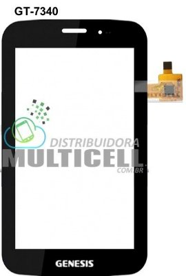 TELA TOUCH SCREEN GENESIS GT-7340 GT 7340 7' PRETO ORIGINAL