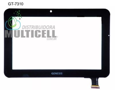 TELA TOUCH SCREEN GENESIS GT7310 GT 7310 7'' PRETO ORIGINAL