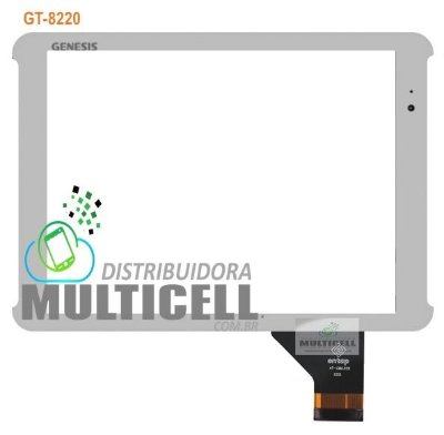 TELA TOUCH SCREEN GENESIS GT8220 GT 8220 BRANCO ORIGINAL