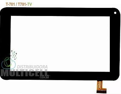TELA TOUCH SCREEN POSITIVO YPY T701 T 701 TV 7' PRETO 1ªLINHA
