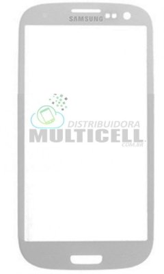 VIDRO FRONTAL SAMSUNG I9300 GALAXY S3 BRANCO ORIGINAL