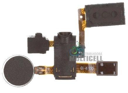 FLEX ALTO FALANTE AURICULAR CONECTOR DE FONE E OUVIDO E VIBRA  SAMSUNG I9100 GALAXY S 2 ORIGINAL