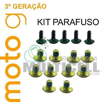 KIT PARAFUSO XT1540 XT1543  MOTO G 3ª GERAÇÃO ORIGINAL