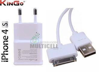 CARREGADOR IPHONE 3 3GS 4 4S IPAD  2.1A 5V KINGO