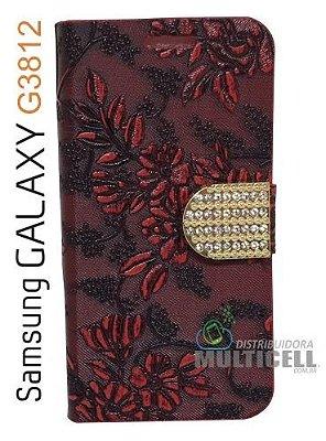 CAPA CARTEIRA PERSONALIZADA SAMSUNG G3812 GALAXY S3 SLIM VERMELHO
