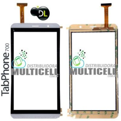 "TELA TOUCH SCREEN TABLET DL TABPHONE 700 TP-304 TP304 TP 304 3G 7"" BRANCO ORIGINAL"