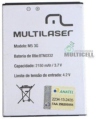 BATERIA MULTILASER M5 3G BTN0332 2150mhA 3,7V ORIGINAL