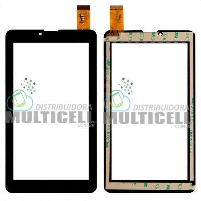 TELA TOUCH SCREEN TABLET GÊNESIS GT7325 GT7326 DL TX254 7'' PRETO ORIGINAL