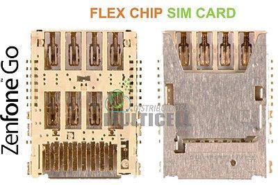 FLEX CONECTOR SLOT DE CHIP MATRIZ SIM CARD ASUS ZC500TG ZC500 ZENFONE GO ORIGINAL
