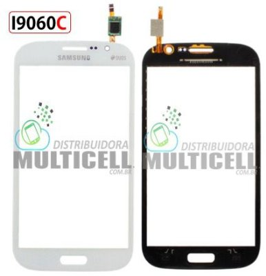 TELA TOUCH SCREEN SAMSUNG I9060I I9060C GALAXY GRAND DUOS BRANCO 1ªLINHA