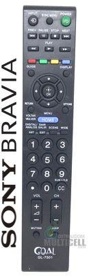 CONTROLE TV LCD SONY BRAVIA RM-YD081 SKY-7501 GL-7501 1ªLINHA