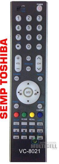 CONTROLE REMOTO TV LCD LED SEMP TOSHIBA CT-90333 LC-4247FDA VC-8021 FBG-7925 1ªLINHA