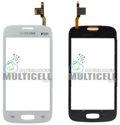 TELA TOUCH SCREEN SAMSUNG S7260 S7262 GALAXY STAR PLUS DUOS BRANCO 1ªLINHA