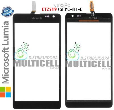 TELA TOUCH SCREEN LUMIA 535 RM-1092 MICROSOFT PRETO VERSAO (CT2S1973FPC-A1-E) ORIGINAL