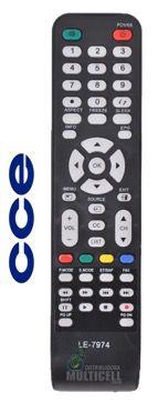 CONTROLE REMOTO TV LED CCE RC-512 RC-517 L2401 SKY-7974 LE-7974 1ªLINHA