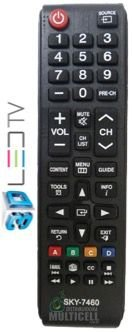 CONTROLE REMOTO TV LCD LED 3D SKY-7460 1ªLINHA