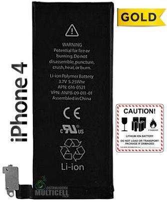 BATERIA APPLE A1332 A1349 IPHONE 4 4G  3.7V 1430mAh QUALIDADE GOLD