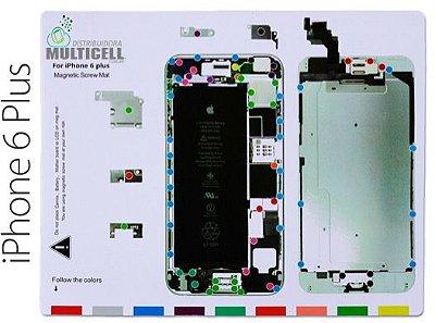 "MAPA GABARITO MAGNÉTICO DE DESMONTAGEM PARAFUSOS IPHONE 6 PLUS 5.5"""