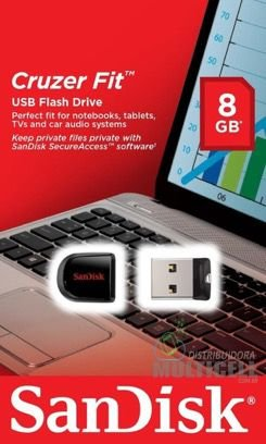 PEN DRIVE SANDISK CRUZER FIT FLASH DRIVER 8GB