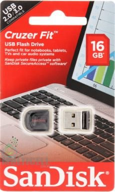 PEN DRIVE SANDISK CRUZER FIT FLASH DRIVER 16GB ORIGINAL
