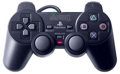 CONTROLE PS2 PLAYSTATION 2 PRO-50 PRETO QUALIDADE GOLD