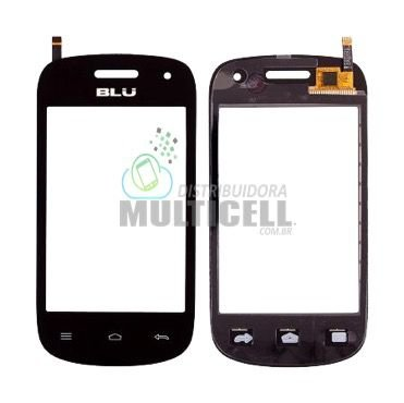 TELA TOUCH SCREEN BLU D141 D141T BLU DASHA JR TV PRETO ORIGINAL