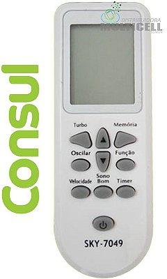 CONTROLE DE AR CONDICIONADO CONSUL CR-3073 SKY-7040 7 A 12 MIL BTUS