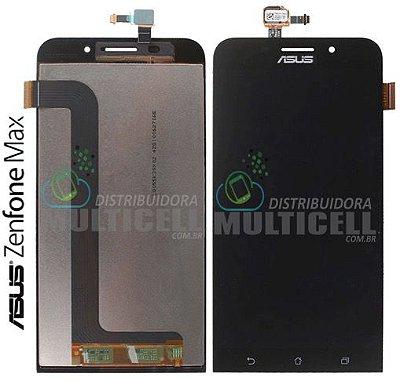 GABINETE FRONTAL MODULO COMPLETO TOUCH SCREEN DISPLAY LCD ASUS ZC550KL ZENFONE MAX PRETO ORIGINAL