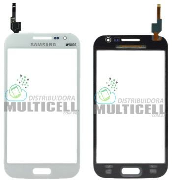 TELA TOUCH SCREEN SAMSUNG I8552 GALAXY WIN DUOS BRANCO 1ªLINHA