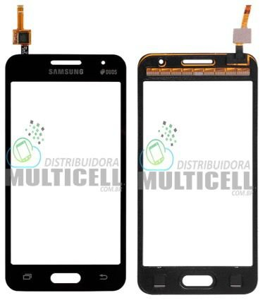 TELA TOUCH SCREEN SAMSUNG G355 GALAXY CORE 2 DUOS PRETO CINZA 1ªLINHA