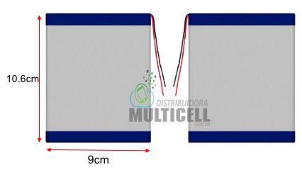 """BATERIA PARA TABLET UNIVERSAL 8"""" 9""""  4000mAh 3.7V (10,6cm X 9cm) ORIGINAL"""