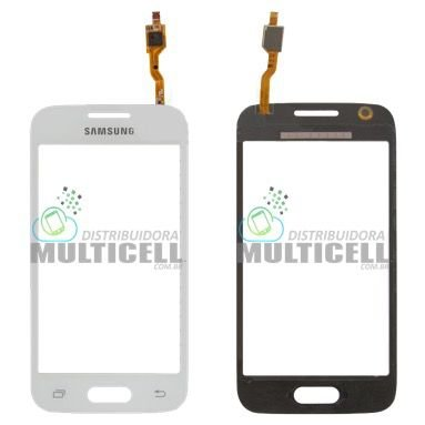 TELA TOUCH SCREEN SAMSUNG G318 GALAXY ACE 4 BRANCA S/ CAMERA 1ªLINHA