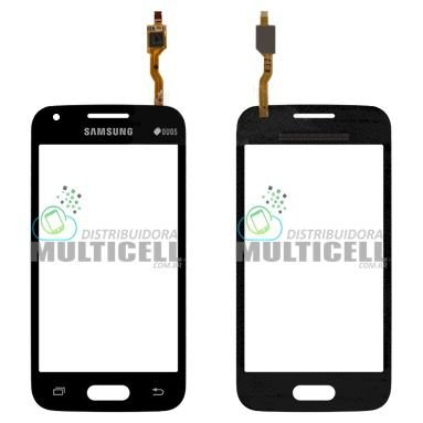 TELA TOUCH SCREEN SAMSUNG G318 GALAXY ACE 4 PRETO C/ CAMERA 1ªLINHA