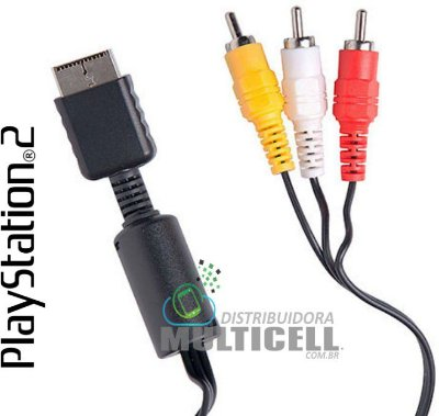 CABO AV DE AUDIO E VIDEO RCA PARA SONY PLAYSTATION PS1 PS2 PS3
