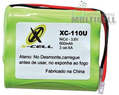 BATERIA PARA TELEFONE SEM FIO PANASONIC PHILIPS SANYO SAMSUNG HI-TEL AA 3 CÉLULAS 600mAh 3,6V XC-110U FLEX GOLD