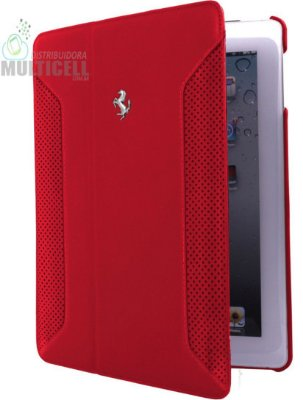 CAPA FLIP COVER CG MOBILE FERRARI PARA APPLE IPAD AIR VERMELHA ORIGINAL