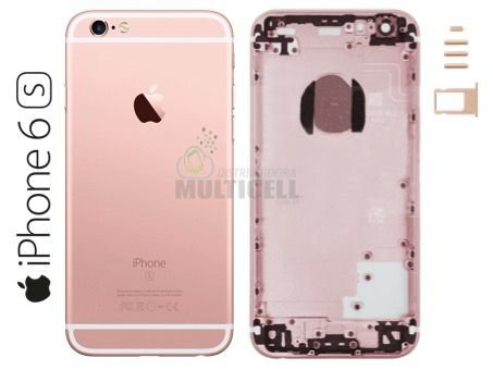 CARCAÇA CHASSI TAMPA TRASEIRA APPLE A1633 A1688 IPHONE 6S 4.7'' ROSA ROSE  1ªLINHA AAA QUALIDADE GOLD
